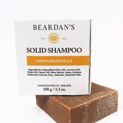 Твердий шампунь для бороди Orange & Vanilla