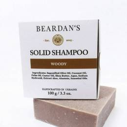 Твердий шампунь для бороди Woody