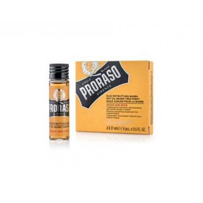 Масло для бороды Proraso Hot Oil Beard Wood & Spice, 4х17 мл