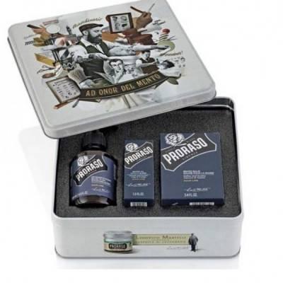 Подарочный набор для ухода за бородой Proraso beard kit Azur Lime