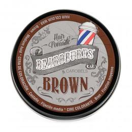 Воск BROWN тонирующий с коричневой краской 100 мл BEARDBURYS