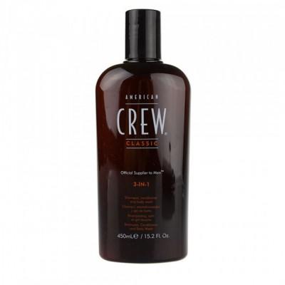 Средство 3-в-1 American Crew по уходу за волосами и телом 450 мл
