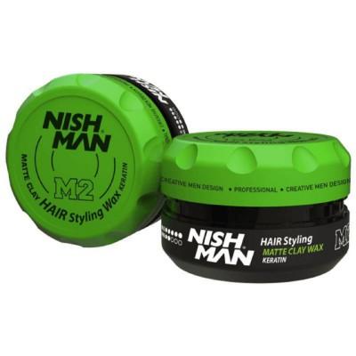 Глина для укладки Nishman Hair Matte Clay M2 100ml