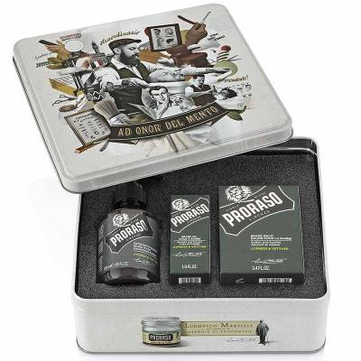 Подарочный набор для ухода за бородой Proraso beard kit Cypress & Vetyver