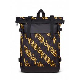 Рюкзак FLY BACKPACK | сіра/жовта каліграфія 1/20