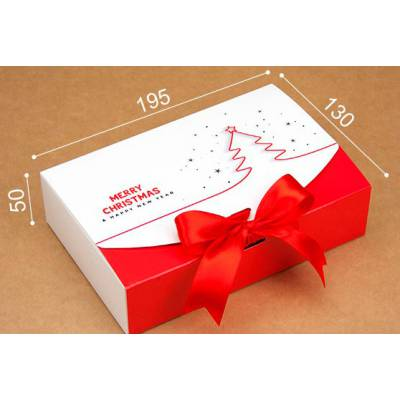 Подарункова коробка Merry Christmas White Red
