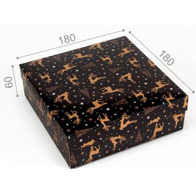 Подарункова коробка Золоті олені