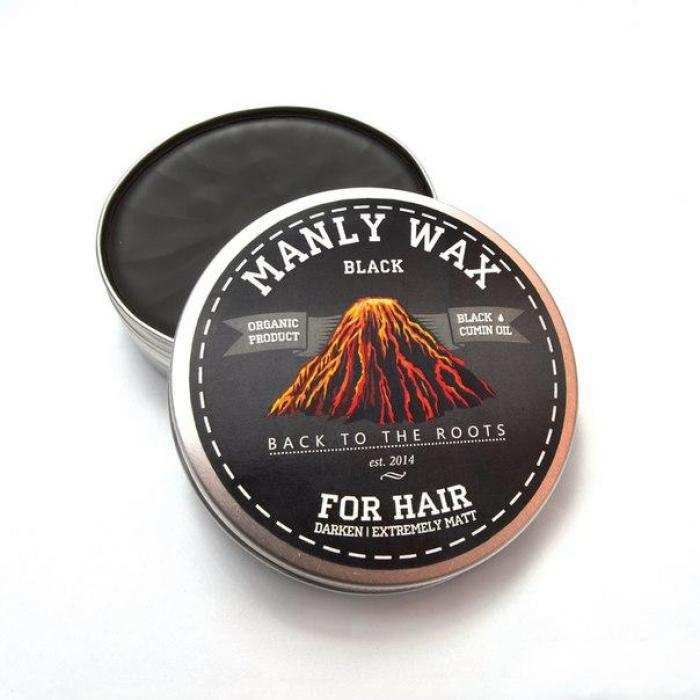 Воск для волос MANLY WAX BLACK