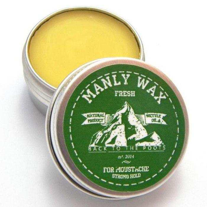 Воск для усов и бороды MANLY WAX Original Fresh