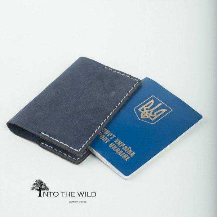 Кожаная обложка на паспорт Into the Wild handmade 2