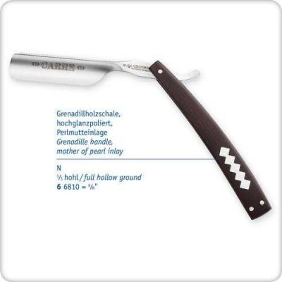 """Небезпечна бритва 6/8 """"з ручкою з африканського чорного дерева 66810"""