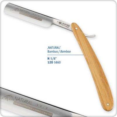 """Опасная бритва 5/8"""" с деревянной бамбуковой ручкой"""