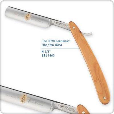 """Опасная бритва 5/8"""" с деревянной ручкой из тиса"""